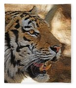 Tiger De Fleece Blanket