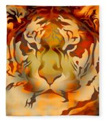 Tiger Illustration Fleece Blanket