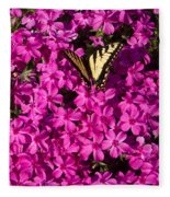 Tiger In The Phlox 5 Fleece Blanket