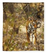 Tiger In The Undergrowth At Ranthambore Fleece Blanket