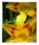 Tiger Lilies Fleece Blanket