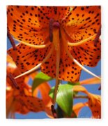 Tiger Lily Close Up Fleece Blanket