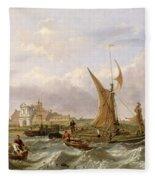 Tilbury Fort - Wind Against The Tide Fleece Blanket