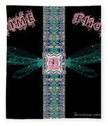 Time Flies Fleece Blanket