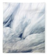 Time-lapse Clouds Fleece Blanket
