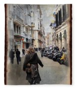 Time Warp In Malaga Fleece Blanket