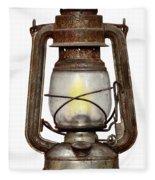 Time Worn Kerosene Lamp Fleece Blanket