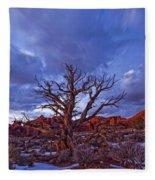Timed Exposure Of Sunset Clouds Fleece Blanket