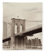 Timeless-brooklyn Bridge Fleece Blanket