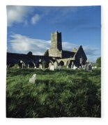 Timoleague Abbey, Co Cork, Ireland 13th Fleece Blanket