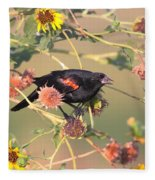 Tinted By Sunset Fleece Blanket