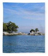 Tiny Island Off Vancouver Island Fleece Blanket