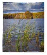 Tiny Island On Hall Lake No 0086 Fleece Blanket