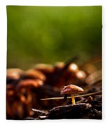 Tiny Shrooms Fleece Blanket