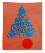 Tipi With Fire Detail Fleece Blanket