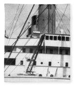 Titanic: The Bridge, 1912 Fleece Blanket