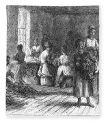Tobacco Factory, 1873 Fleece Blanket