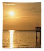 Together At Sunset Fleece Blanket