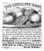 Tomato Advertisement, 1889 Fleece Blanket