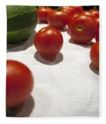 Tomato And Cucumber 2 Fleece Blanket