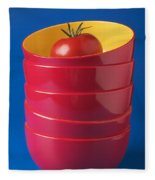 Tomato In Stacked Bowls Fleece Blanket
