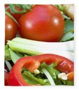 Tomato Salad Close Up Fleece Blanket