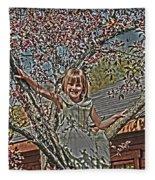 Tomboy In The Tree Fleece Blanket