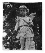 Tombstone Angel Bw Fleece Blanket