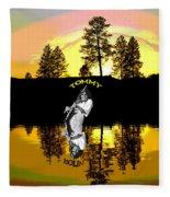 Amber Lake #3 Fleece Blanket