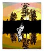 Amber Lake #4 Fleece Blanket