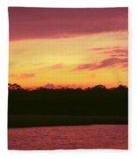 Tomoka River Sunset Fleece Blanket