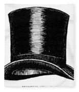 Top Hat, 1900 Fleece Blanket