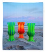 Topsail Hurricane Glasses Fleece Blanket