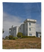 Topsail Island Observation Tower 1 Fleece Blanket