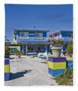 Topsail Island Patio Playground Fleece Blanket