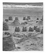 Topsail Island Sandcastle Fleece Blanket