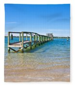 Topsail Island Sound Fleece Blanket