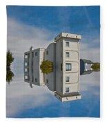 Topsail Island Tower Reflection Fleece Blanket