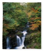 Torc Waterfall, Ireland,co Kerry Fleece Blanket