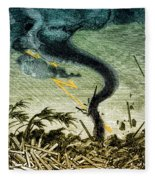 Tornado, 19th Century Fleece Blanket