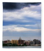 Tornado Over The Capitol Fleece Blanket