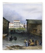 Toronto, Canada, C1842 Fleece Blanket