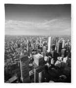 Toronto From Above Fleece Blanket