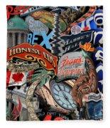 Toronto Pop Art Montage Fleece Blanket