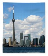 Toronto Skyline 10 Fleece Blanket