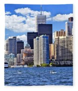 Toronto Waterfront Fleece Blanket