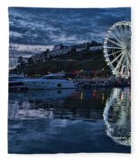 Torquay Marina And The Big Wheel Fleece Blanket