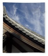 Toshodai-ji Temple Roof Gargoyle - Nara Japan Fleece Blanket