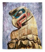 Totem Pole In The Pacific Northwest Fleece Blanket