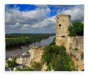Tour Du Moulin And The Loire River Fleece Blanket